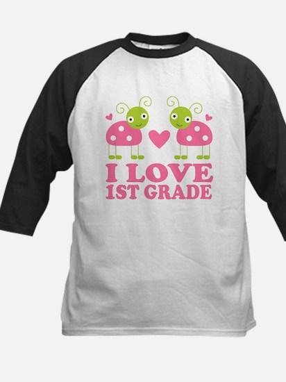 I Love 1st Grade Gift Kids Baseball Jersey