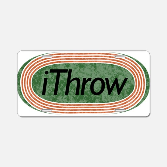i Throw Track and Field Aluminum License Plate