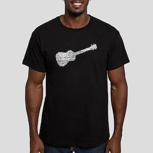 Ukulele uke Men's Fitted T-Shirt (dark)