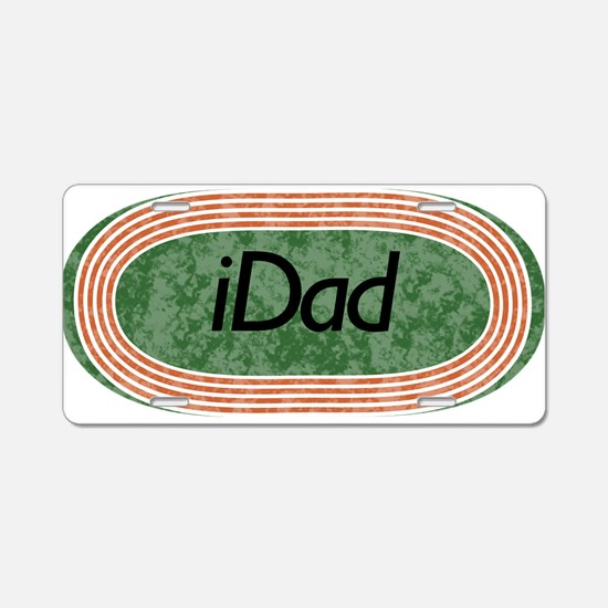 i Dad Track and Field Aluminum License Plate