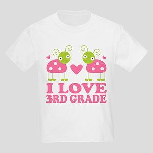 I Love 3rd Grade Gift Kids Light T-Shirt