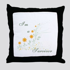 I'm a Survivor Throw Pillow
