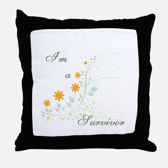 I'm a Survivor Throw Pillow