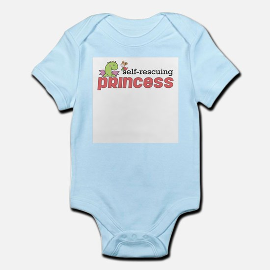 Self Rescuing Princess Infant Bodysuit