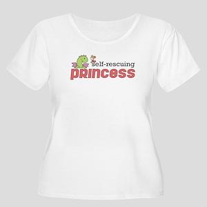Self Rescuing Princess Women's Plus Size Scoop Nec