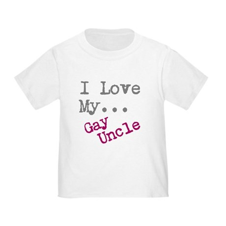 I Love My Gay Uncle With Gay Flag Toddler Baby Kid T-shirt Tee 6mo Thru 7t
