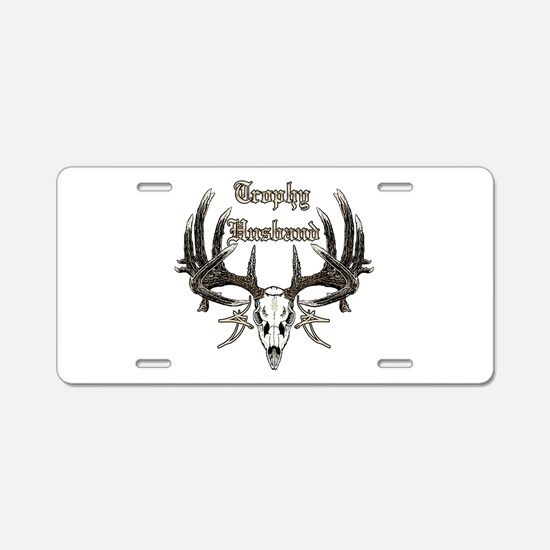Trophy husband 1 Aluminum License Plate
