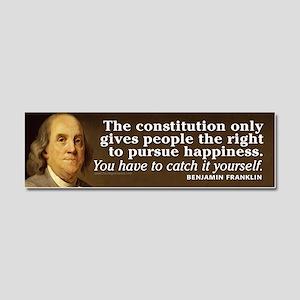 Ben Franklin Quotes Car Magnet 10 x 3