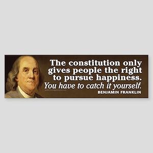 Ben Franklin Quotes Sticker (Bumper)
