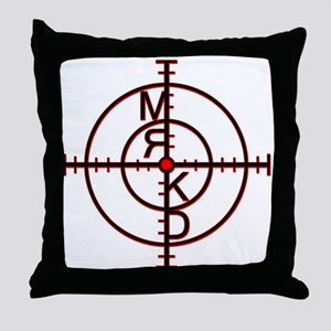 MRKD_Black & Red Throw Pillow