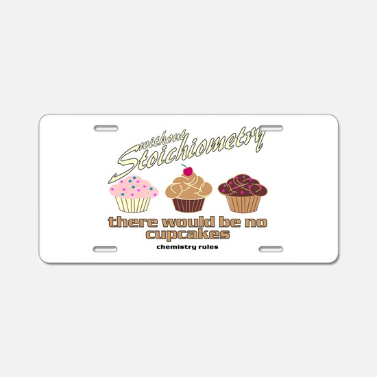 Chemistry Cupcakes Aluminum License Plate
