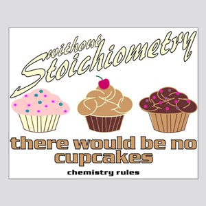 Chemistry Cupcakes Small Poster