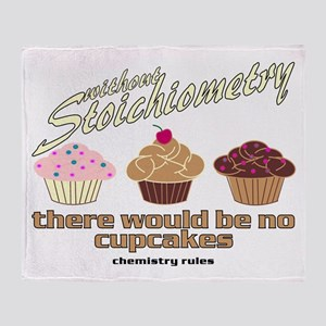Chemistry Cupcakes Throw Blanket