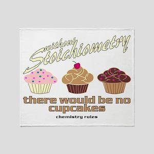 Chemistry Cupcakes Throw Blanket