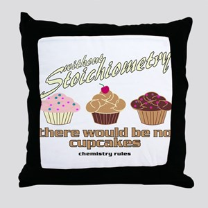 Chemistry Cupcakes Throw Pillow