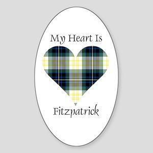 Heart - Fitzpatrick Sticker (Oval)