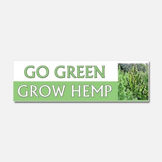 Go Green Hemp ~ Car Magnet 10 x 3
