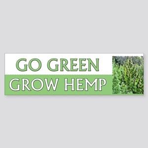 Go Green Hemp ~ Sticker (Bumper)