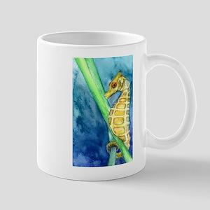 Yellow Pygmy Seahorse Study Mugs