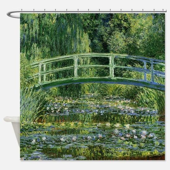 Monet Japanese Bridge Shower Curtain
