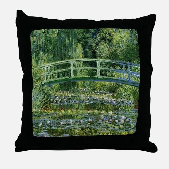 Monet Japanese Bridge Throw Pillow