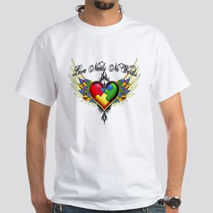 Autism Love White T-Shirt