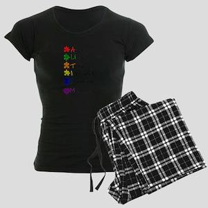 What Autism Means To Me Women's Dark Pajamas