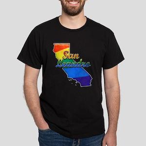 San Leandro, California. Gay Pride Dark T-Shirt