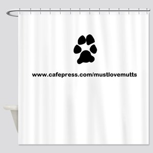 paw print/must luv mutts web Shower Curtain