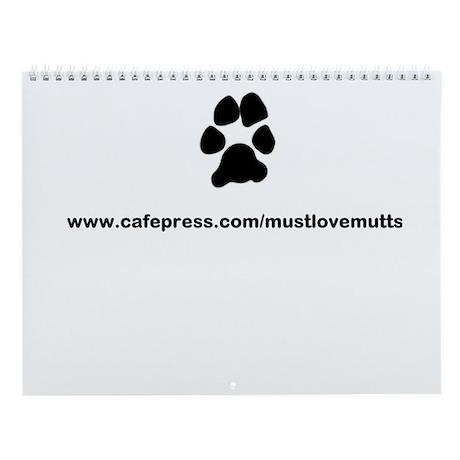 paw print/must luv mutts web Wall Calendar