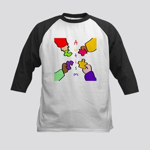 Autism Puzzle Pieces Kids Baseball Jersey