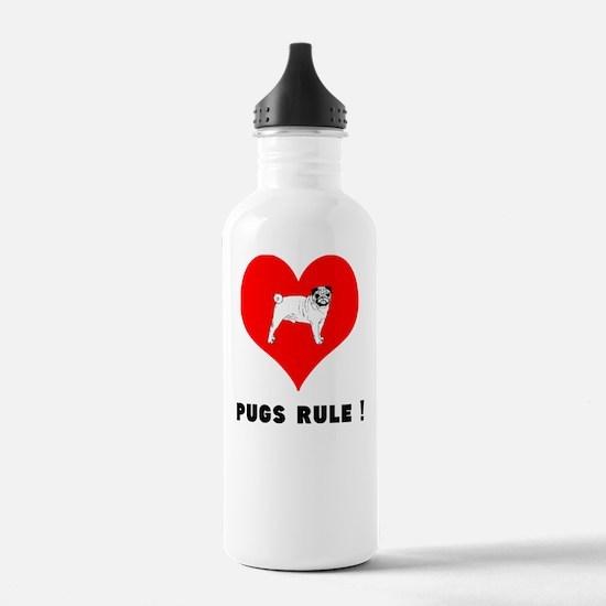 pugs RULE! Water Bottle