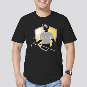 Coal Miner With Pick Ax Shiel Men's Fitted T-Shirt