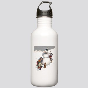 Cats in the Snow Stainless Water Bottle 1.0L
