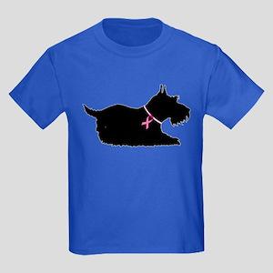 Schnauzer Silhouette Kids Dark T-Shirt