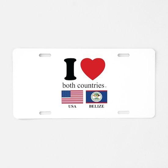 USA-BELIZE Aluminum License Plate
