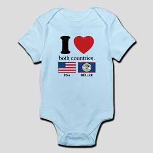USA-BELIZE Infant Bodysuit