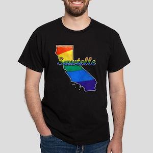 Sawtelle, California. Gay Pride Dark T-Shirt