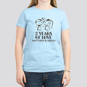 2nd Wedding Anniversary Personalized T-Shirt