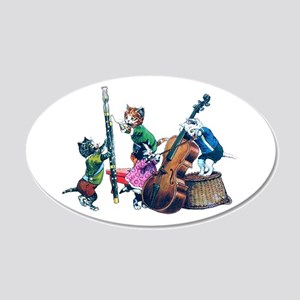 Jazz Cats 20x12 Oval Wall Decal