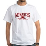 Monarchs Football White T-Shirt