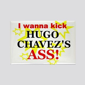 Kick Hugo Chavez Rectangle Magnet