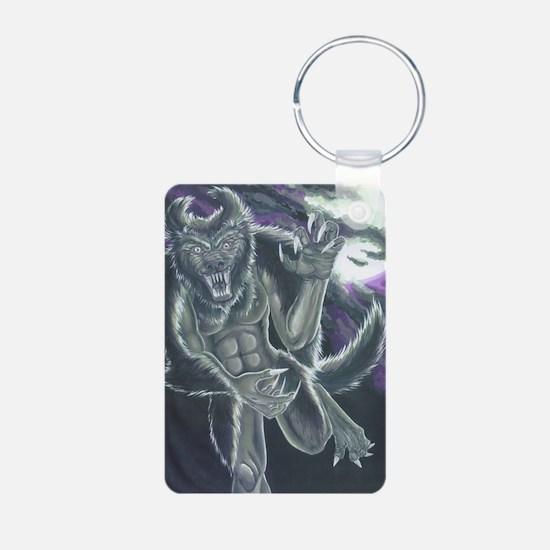 Unique Werewolf Aluminum Photo Keychain