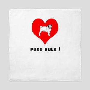 pugs RULE! Queen Duvet