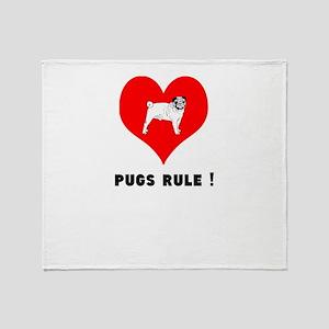 pugs RULE! Throw Blanket