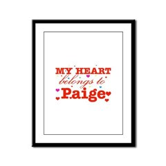 I love Paige Framed Panel Print