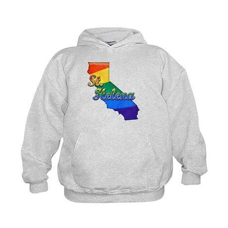 St Helena, California. Gay Pride Kids Hoodie