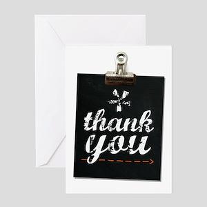 Chalk Thank You Greeting Card