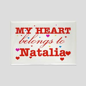 I love Natalia Rectangle Magnet
