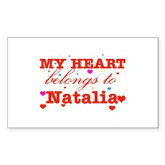 I love Natalia Sticker (Rectangle)